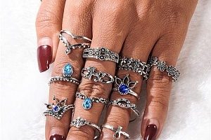 Sada vintage prstenů - 22 variant a poštovné ZDARMA!...