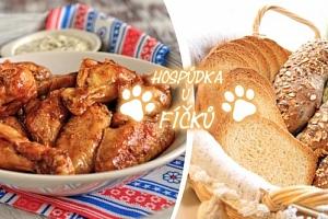 2 kg křupavých kuřecích křidélek s ošatkou chleba a zeleninovou oblohou, kvalitní, čerstvé suroviny....