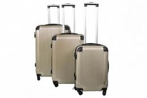 Sada 3 Cestovních kufrů ABS, M/L/XL, champagne, 4099...