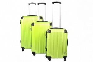 Sada 3 Cestovních kufrů ABS, M/L/XL, zelená, 4097...