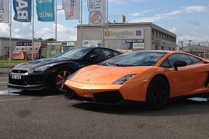 Jízda v Lamborghini Gallardo na okruhu (polygonu) v Hradci Králové...
