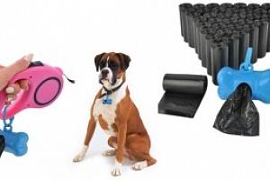 Zásobník a sáčky na psí výkaly, sada 570 sáčků, modrý, 5825...