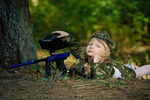 Akční vojenský den pro malé praporčíky...