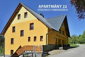 Rodinný pobyt v Krkonoších v apartmá s možností půjčení kolobežek...