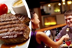Vynikající XXL Mix Gril v restauraci Baba Jaga v Praze, steaky, domácí omáčky, brambory, placičky....