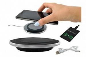 Bezdrátová nabíječka Qi - Wireless Charging, černá, 6125...