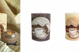 Svíčka motiv šálek kávy...