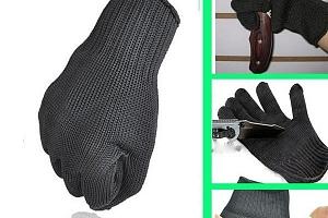 Kevlarové ochranné pracovní rukavice černé...