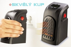 Teplovzdušný ventilátor Rovus Handy heater pro vytopení místnosti...
