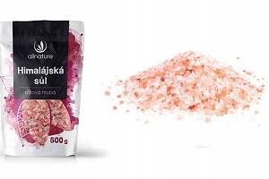 Allnature himalájská růžová hrubá sůl 500g pro zdravější život...