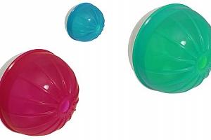 Míček Argi pro psy a kočky s otvorem na granule a jiné pamlsky ve 3 barevných variantách...