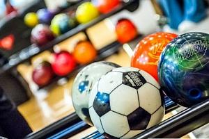 Hodina bowlingu v Galerii Šantovka v Olomouci...