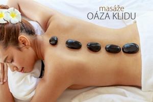 60min. relaxační masáž zad a šíje či masáž lávovými kameny...