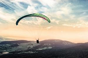 Termický tandem paragliding v Beskydech...