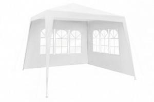 Zahradní párty stan 3 x 3 m + 2 boční stěny, bílý, 1651...