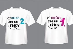 Kvalitní tričko pro školáky s personalizovaným potiskem...