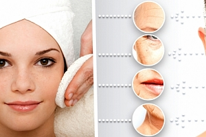 Ošetření obličeje nebo krku a dekoltu. Čištění, peeling a hydratace pleti v jednom....