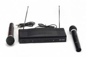 Karaoke set + 2 bezdrátové mikrofony, 385...