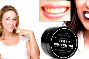 Černé uhlí pro bělení zubů Teeth Whitening. Nyní už mohou mít bílé zuby opravdu všichni....