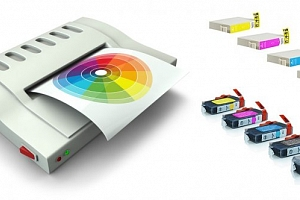 Kompatibilní sada náplní pro tiskárny Canon nebo Epson. Jasné barvy, inkoust a speciální čip....