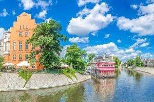 Polsko: Hotel Tumski *** v centru Vratislavi s polopenzí a lodní restaurací...