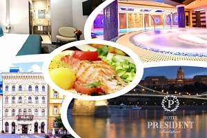 Luxusní wellness pro dva v Hotelu President **** . Bazén, vířivka, odpočinková zóna s lehátky....