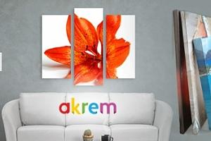Originální 3dílný obraz s 3D efektem na malířském plátně...