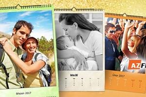 Nástěnný fotokalendář s 13 listy - 2 rozměry, možný osobní odběr...