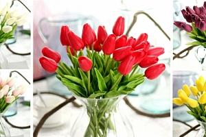 Kytice tulipánů vykouzlí ve Vašem domově svěží a romantickou atmosféru....