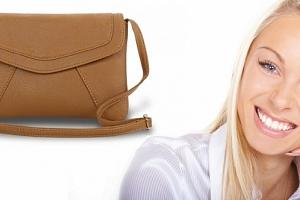 Módní mini kabelka přes rameno i do ruky, na výběr černá nebo hnědá barva....