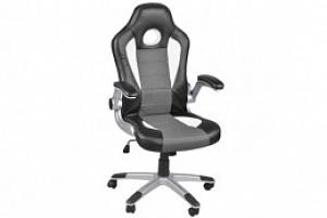 Kancelářská židle Racer - sportovní design, černo/šedá, 2739...
