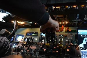 Simulátor letu na Messerschmitt BF-109...