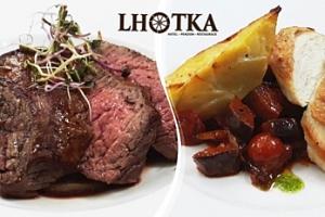 5chodové degustační menu pro dva v Restauraci Hostinec Lhotka...