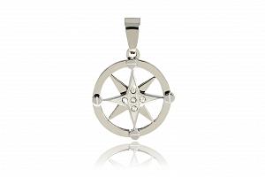 Přívěsek kompas z chirurgické oceli...