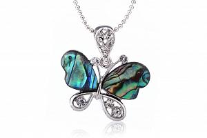 Fashion Icon Přívěsek motýl babočka Paua perleť...
