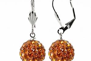 Náušnice discoballs velké s krystaly...