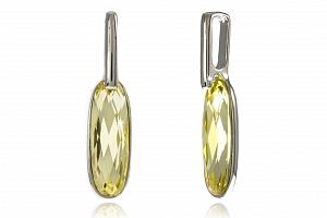 Fashion Icon Přívěsek oválný krystal pokovaný platinou...
