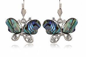 Náušnice motýlci s Paua perletí...