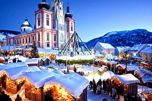 """Zájezd na čertovské adventní trhy v Mariazellu. Tradiční """"Běh čertů"""", voňavé trhy, živé jesličky aj...."""