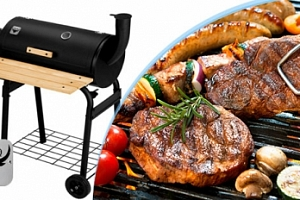 Všestranný plně vybavený zahradní BBQ gril s udírnou...