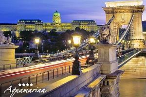 Budapešť z hladiny Dunaje v 4* historickém botelu v centru se snídaní a lahví šampaňského –…...