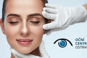 Plastická operace horních nebo dolních očních víček...