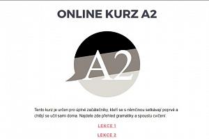 Němčina A2 - elearning pro začátečníky a mírně pokročilé - Elearningový kurz němčiny pro samouky...