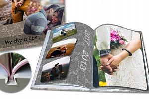 Luxusní fotokniha A4 s vašimi fotografiemi v pevné vazbě s 24 nebo 40 stranami...
