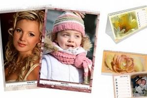 Týdenní a 14denní stolní či měsíční nástěnný kalendář z vlastních fotografií...
