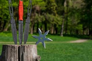 Kurz vrhání nožů, seker a hvězdic...