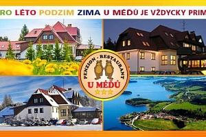 Penzion U Méďů na Lipně s wellness a polopenzí...