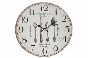 Krásné hodiny motiv příbory...
