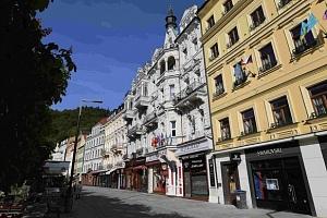 Hotel Palacký v Karlových Varech s polopenzí a wellness...