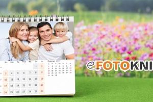 Originální fotokalendář sestavený z rodinných fotek...